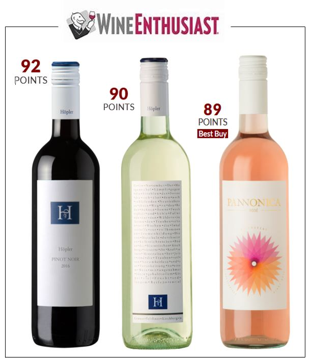 Wine enthusiast triple June 2018